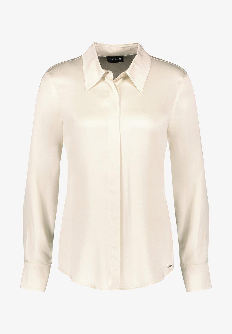 Taifun - LONG SLEEVE - Button-down blouse - winter white