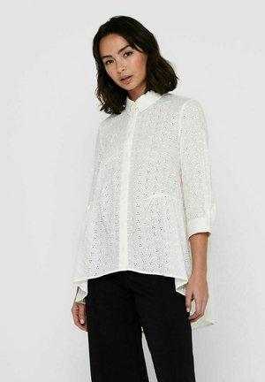 LOCHSTICKEREI - Button-down blouse - cloud dancer