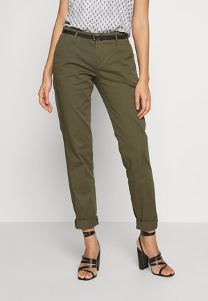 WITH BELT - Chinos - military
