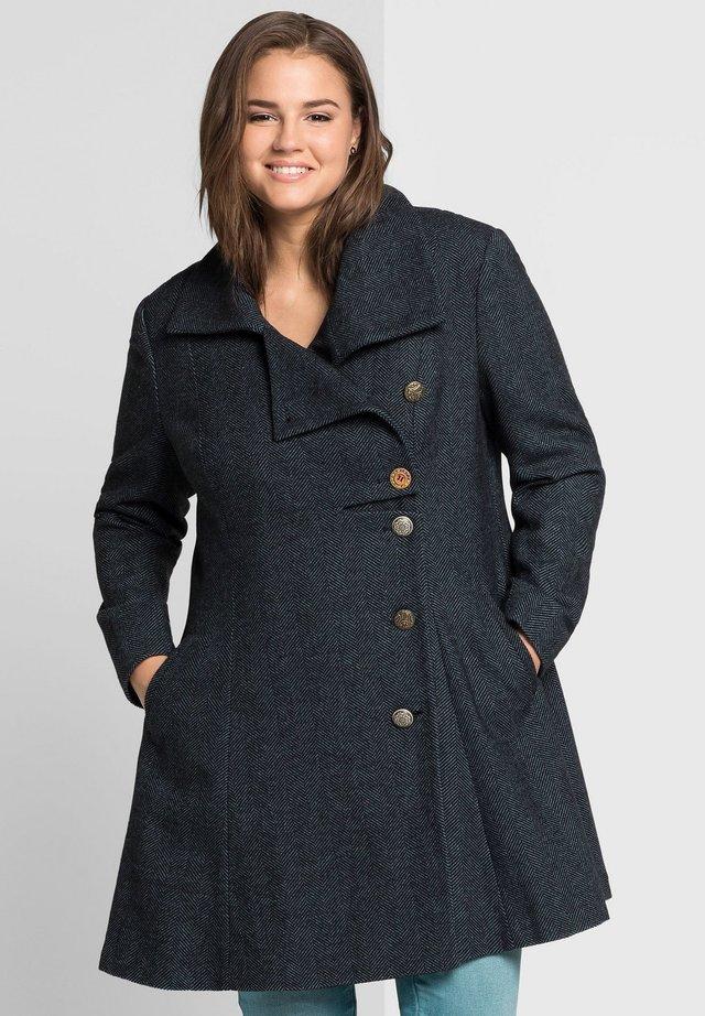 Short coat - schwarz-blau