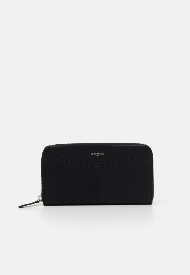 CHARLOTTE LONG ZIPPED AROUND WALLET UNISEX - Punge - noir