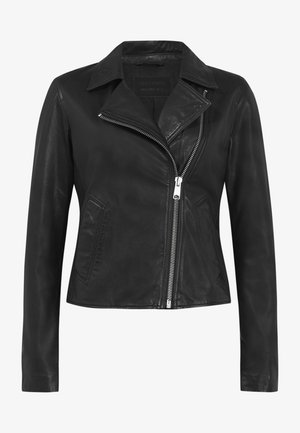 VELA BIKER - Leather jacket - black