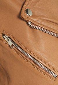Vero Moda - VMMILANO JACKET - Leather jacket - cognac - 5