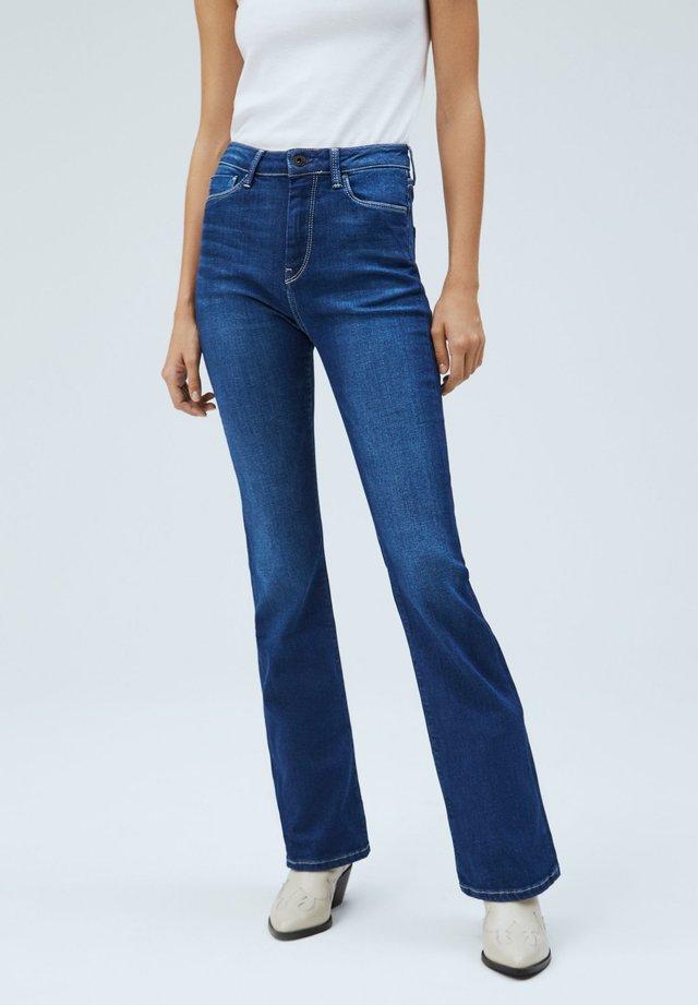 DION FLARE - Flared Jeans - denim