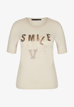 Print T-shirt - sand