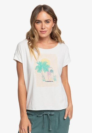 SWEET SUMMER NIGHT  - Print T-shirt - snow white