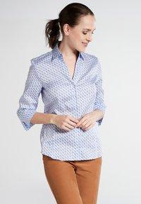 Eterna - MODERN CLASSIC - Button-down blouse - light blue/white - 0