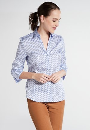 MODERN CLASSIC - Button-down blouse - light blue/white