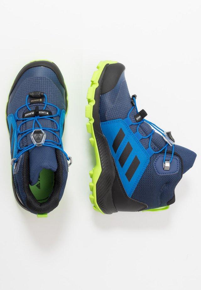 TERREX MID GORE-TEX - Hiking shoes - tech indigo/core black/signal green