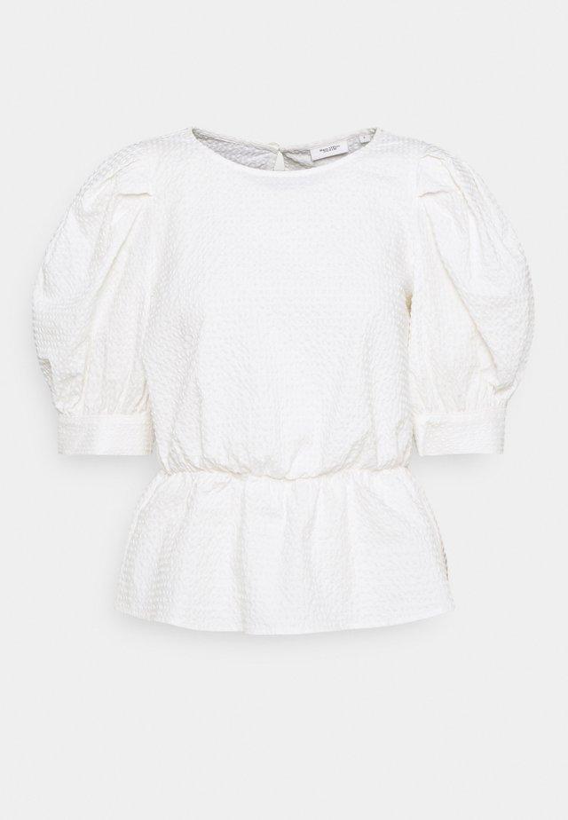 BLOUSES SHORT SLEEVE - Bluser - scandinavian white