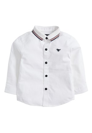 WHITE LONG SLEEVE SHIRT WITH JERSEY COLLAR (3MTHS-7YRS) - Košile - white