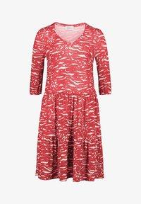 Vera Mont - MIT STUFEN - Jersey dress - red/white - 2