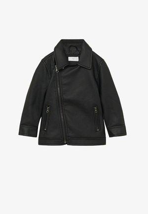 IVO - Veste en cuir - schwarz