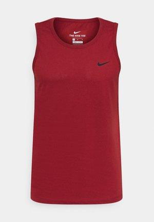 DRY TANK SOLID - Sports shirt - dark cayenne