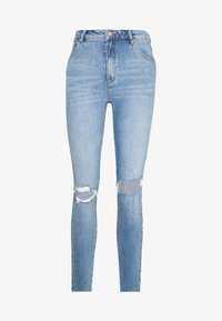 A HIGH ANKLE BASHER - Jeans Skinny Fit - destroyed denim