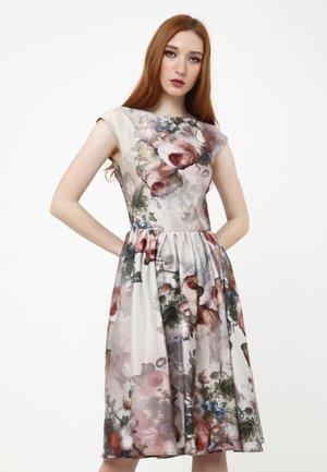 Korte jurk - beige/braun