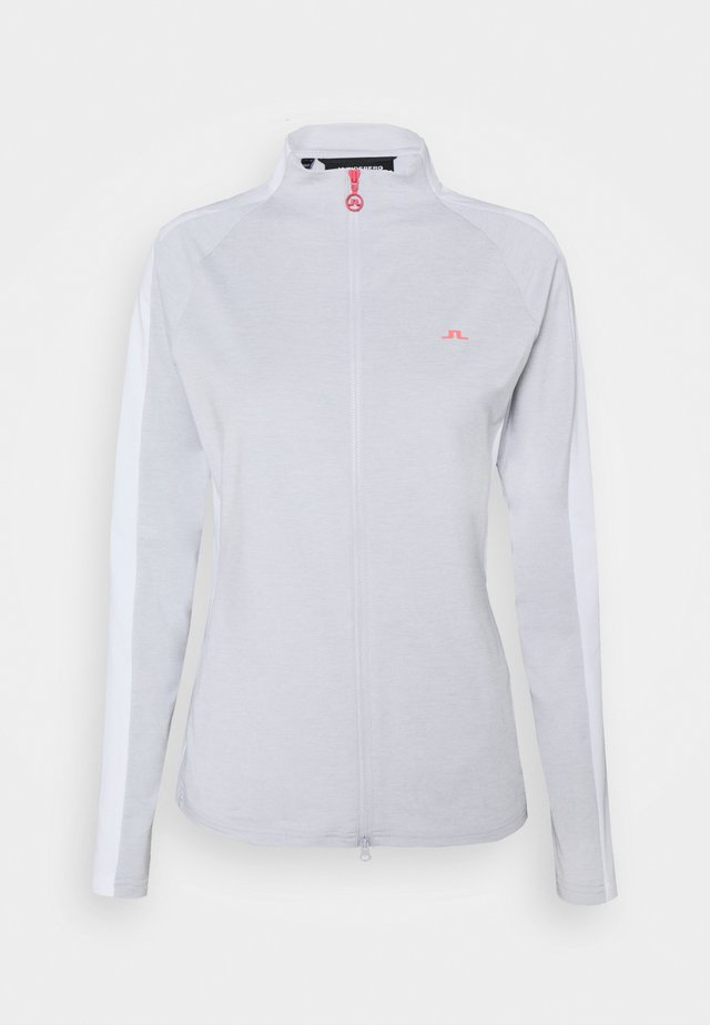 MARIE GOLF MID LAYER - Bluza rozpinana - light grey melange