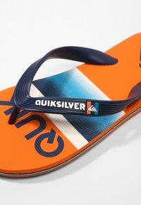 Quiksilver - MOLOKAI SLAB  - Pool shoes - blue/blue/orange - 5