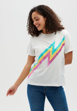 MAGGIE ZAP! BRIGHT LIGHTNING - Print T-shirt - off white