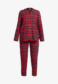 Benetton - DYED CHECK FRONT OPENING SET - Pigiama - red tartan - 5