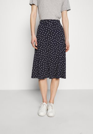 SPOT SKIRT - A-line skirt - dark blue