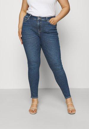 SLFTIA SKINNY CURVE - Skinny džíny - dark blue denim