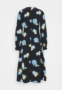 Glamorous - MIDAXI DRESS WITH PUFF LONG SLEEVES ROUND NECKLINE CUT-OUT FRONT - Day dress - blue - 1