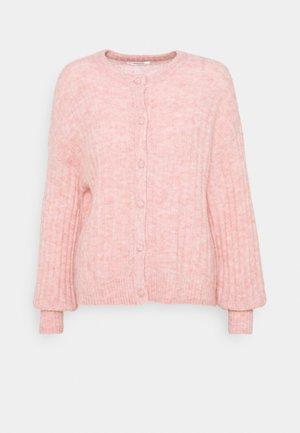 DEANNA CARDIGAN - Kardigan - powder pink melange