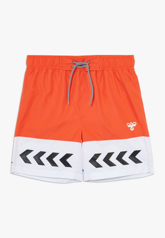 HMLJASON - Short de bain - mandarin red
