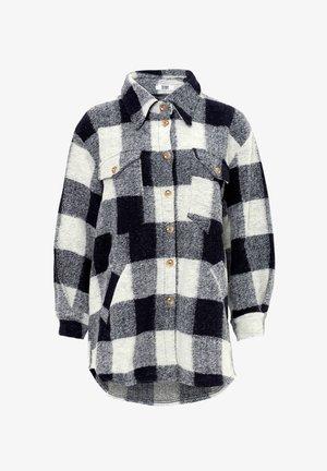 VALLEY - Short coat - navy slash grey