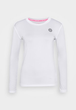 PIA TECH ROUNDNECK LONGSLEEVE - Sports shirt - white