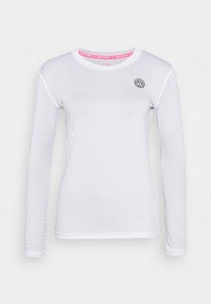 PIA TECH ROUNDNECK LONGSLEEVE - Funkční triko - white