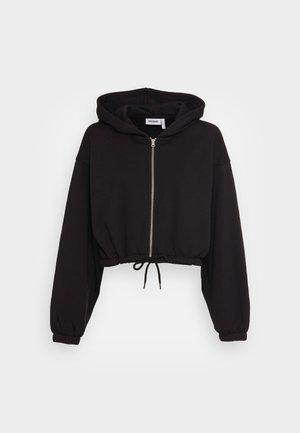 MIRIAM ZIP HOODIE - Bluza rozpinana - black