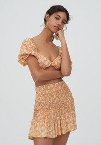 PULL&BEAR - A-line skirt - orange - 3