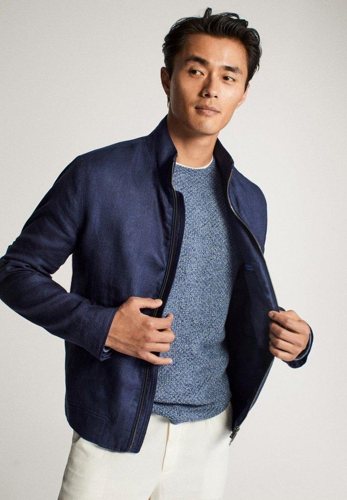 Massimo Dutti - Summer jacket - light blue