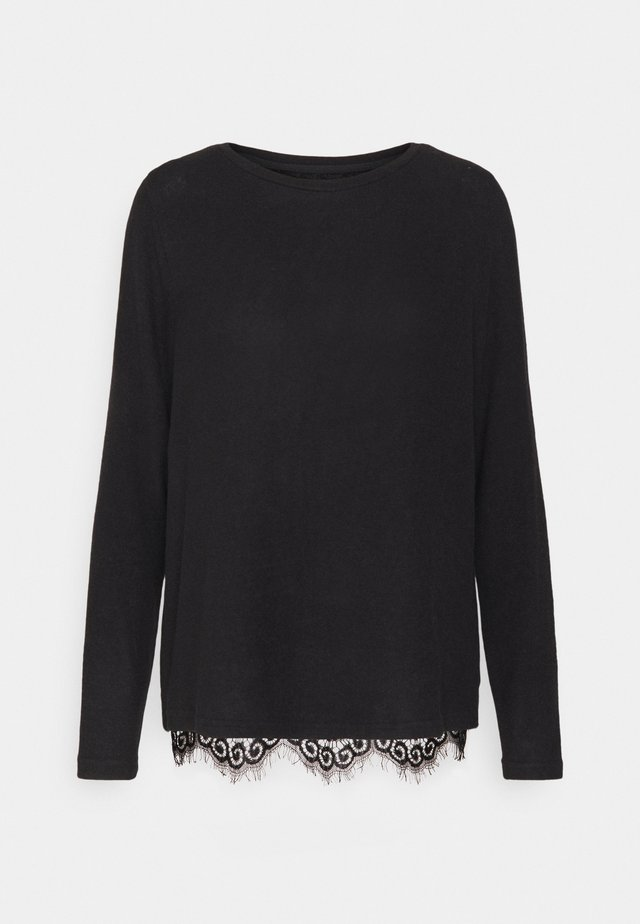 ONLMAYEA LIFE LACE PULLOVER TAL - Pullover - black/dtm lace