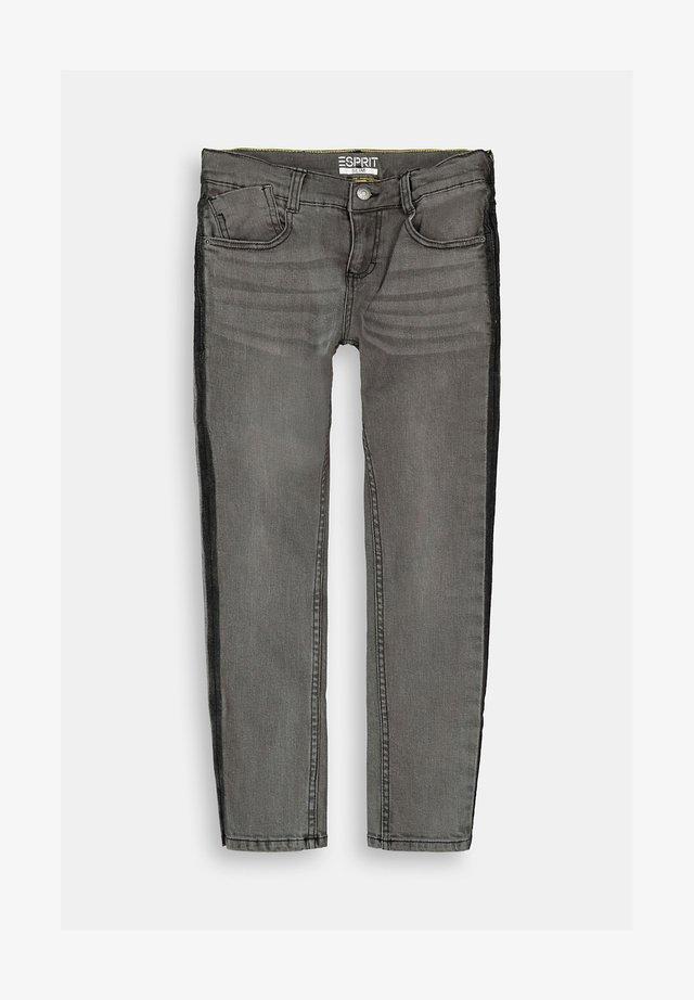 Straight leg jeans - black medium washed