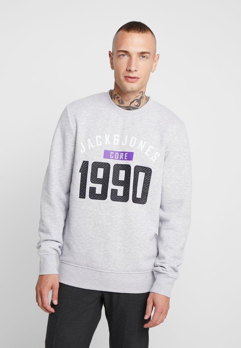 Jack & Jones - JCOCARVING CREW NECK - Sweatshirts - light grey melange