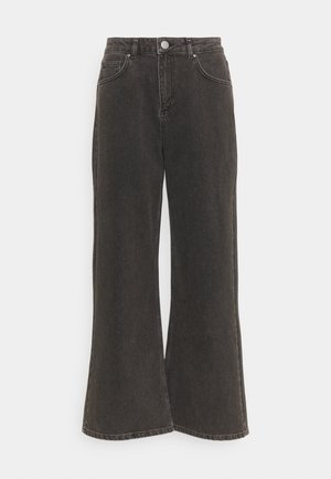 CINZIA - Flared Jeans - black