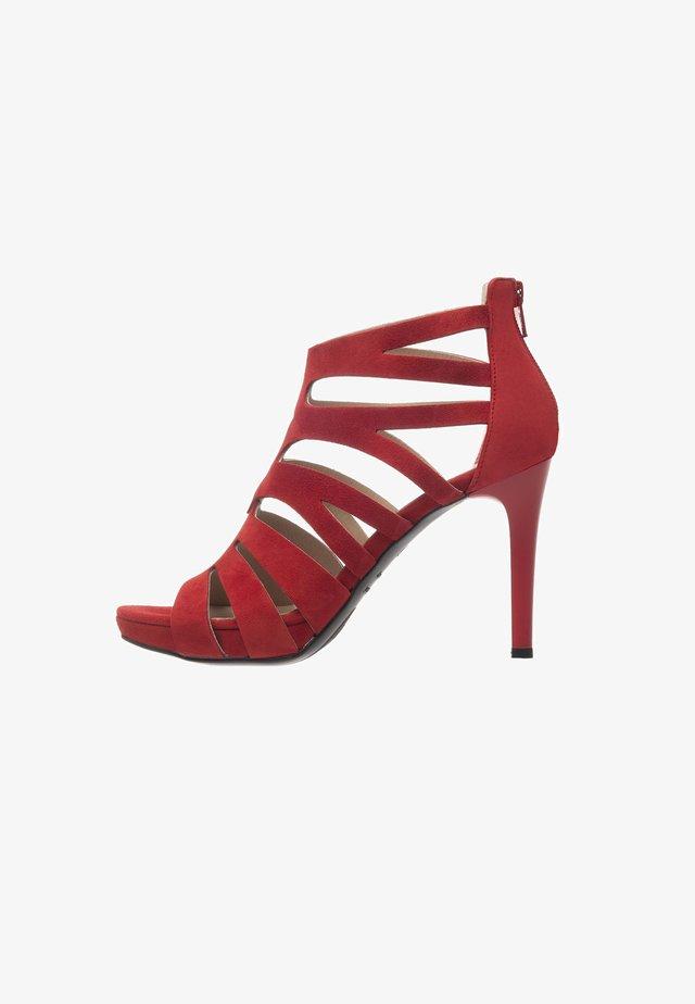 Sandalias de tacón - rosso