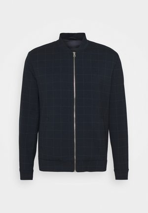 COMO BOMBER JACKET - Bomber Jacket - dark navy/light grey melange