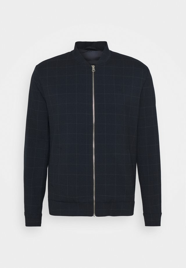 COMO BOMBER JACKET - Chaquetas bomber - dark navy/light grey melange