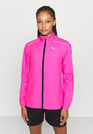 IGNITE WIND JACKET - Løbejakker - luminous pink