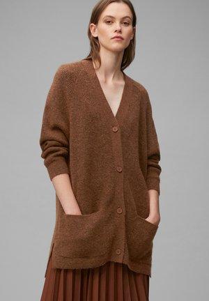 AUS SOFTEM WOLLE-MIX - Cardigan - multi/fantastic brown