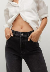 Mango - Flared Jeans - black denim - 4