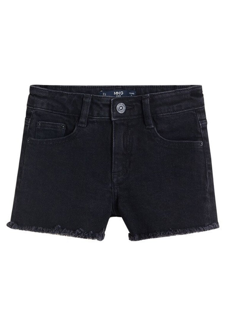 Mango - ISABEL - Shorts di jeans - black denim