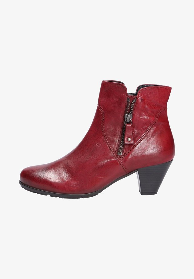 Classic ankle boots - darkred