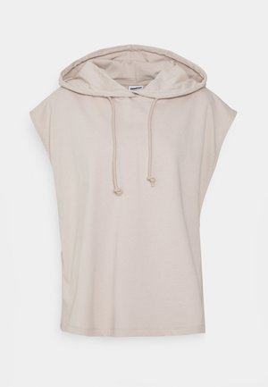 NMALLY HOODIE CURVE - Print T-shirt - chateau gray
