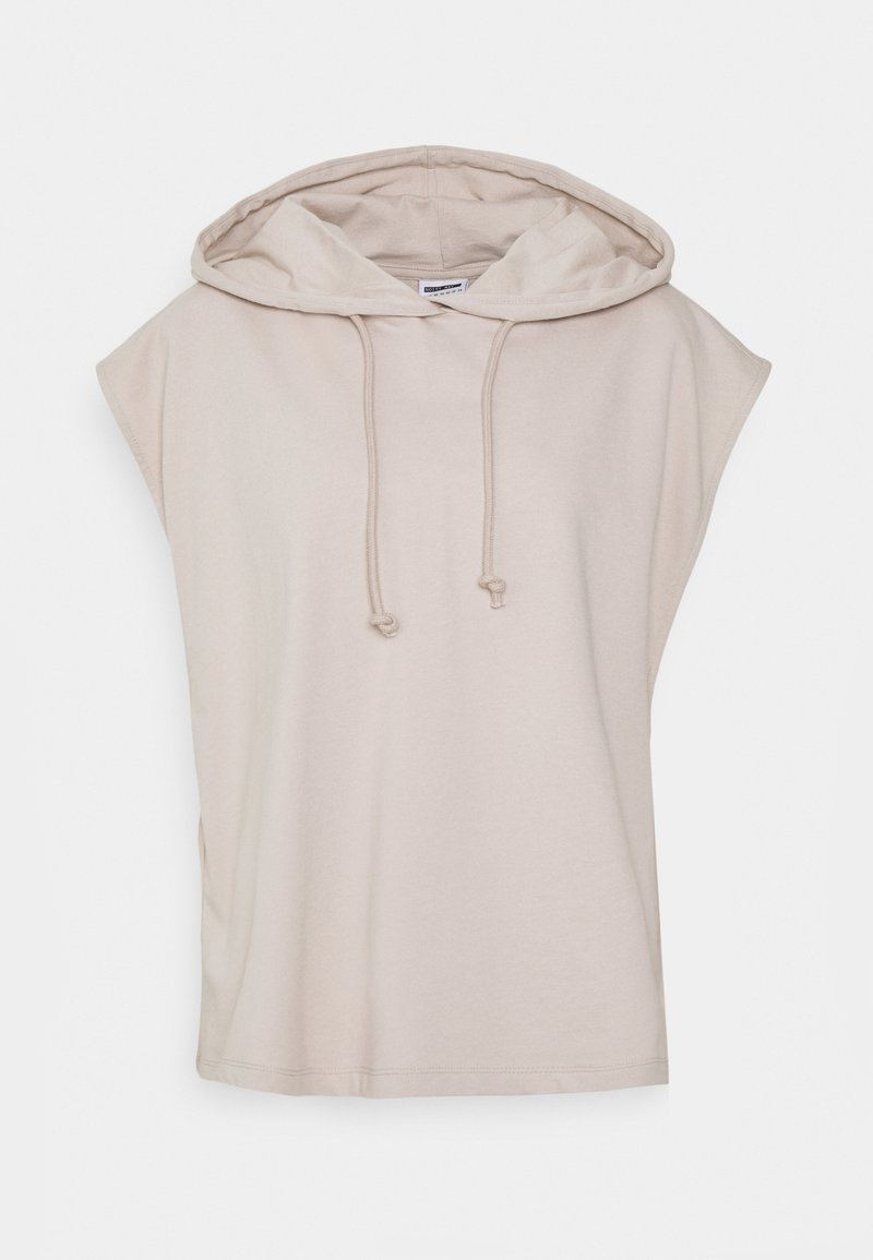 Noisy May Curve - NMALLY HOODIE CURVE - Print T-shirt - chateau gray