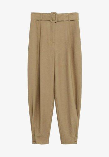 VESTI - Trousers - middenbruin